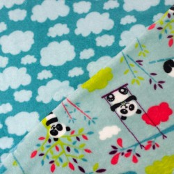 Doudou Panda - double face nuages - 10cm - photo 1