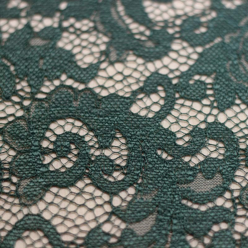 Scalloped blue duck lace - 01