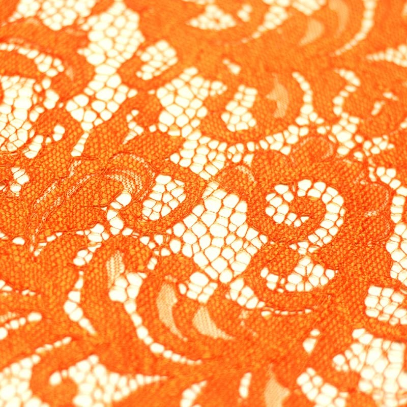 Scalloped orange orange lace - 10cm