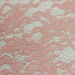 Scalloped plain pink lace - 01