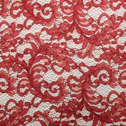 Red scalloped lace - 02