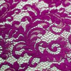 Scalloped plain purple lace - 01