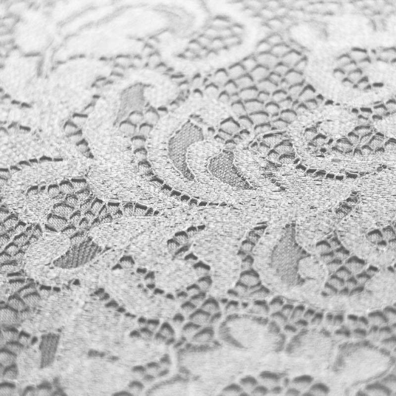 White scalloped lace - 01