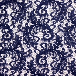 Scalloped navy blue lace - 01