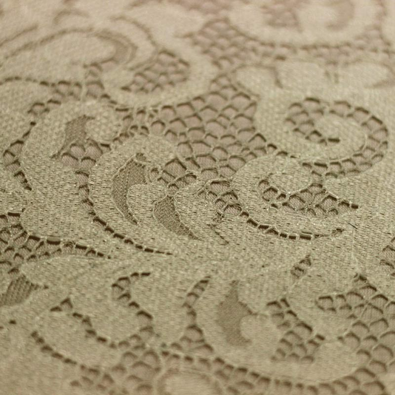 Scalloped plain ecru lace - 01