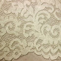 Scalloped plain ecru lace - 03