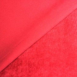 Red corduroy plain - 01