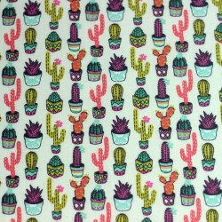 Aloes cactus pattern cotton fabric - 02