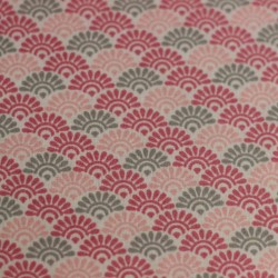 Pink sunrise lorraine pattern cotton fabric 03