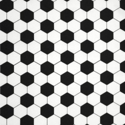 Cotton Fabric - QiuTie Kids - black and white - Hexagon - 02