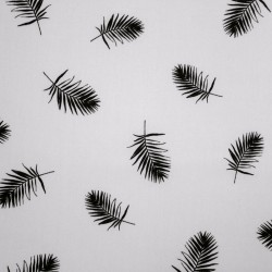 Cotton Fabric - QiuTie Kids - black and white - Feathers - 01