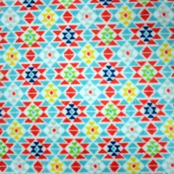 Doudou lama fabric - double sided triangles pattern - 04