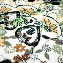 Fabric online - Viscose multicolored floral pattern - 01