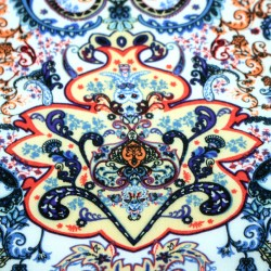Fabric online - Viscose Indian floral pattern multicolored blue - 03