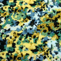 Fabric online - Viscose multicolored floral pattern - 03