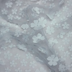 organza - white lace and petal of flowers 02