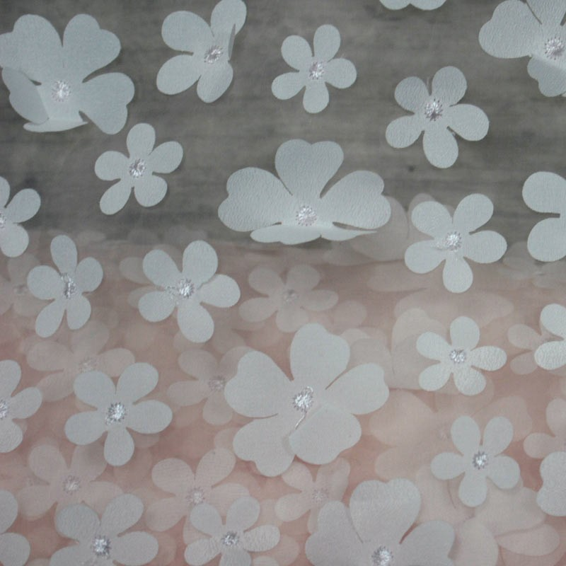 organza - pink lace and petal of flowers - 02